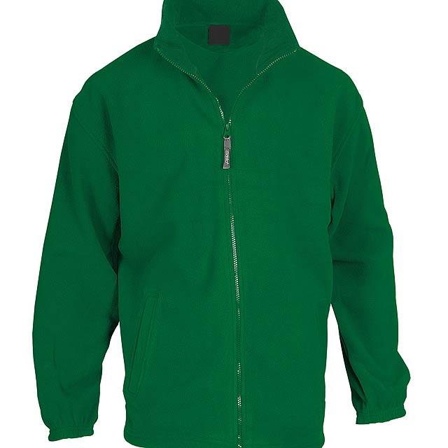 Fleecová bunda ze 100% polyesteru na zip, s 2 kapsami, 260 g/m². - zelená - foto