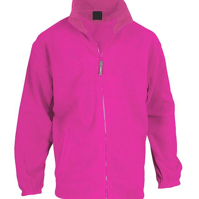 Fleecová bunda ze 100% polyesteru na zip, s 2 kapsami, 260 g/m². - růžová - foto