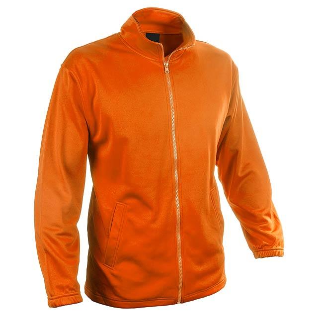Bunda ze 100% polyesteru na zip, s 2 kapsami, 265 g/m². - oranžová - foto