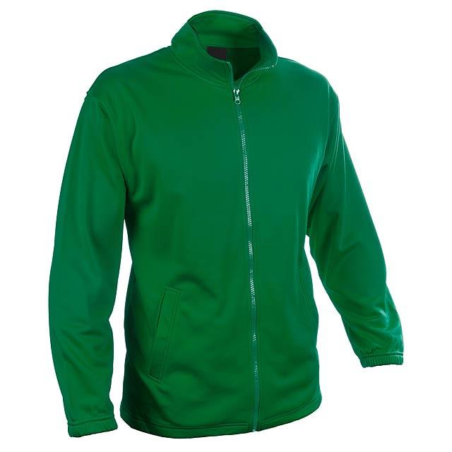 Bunda ze 100% polyesteru na zip, s 2 kapsami, 265 g/m². - zelená - foto