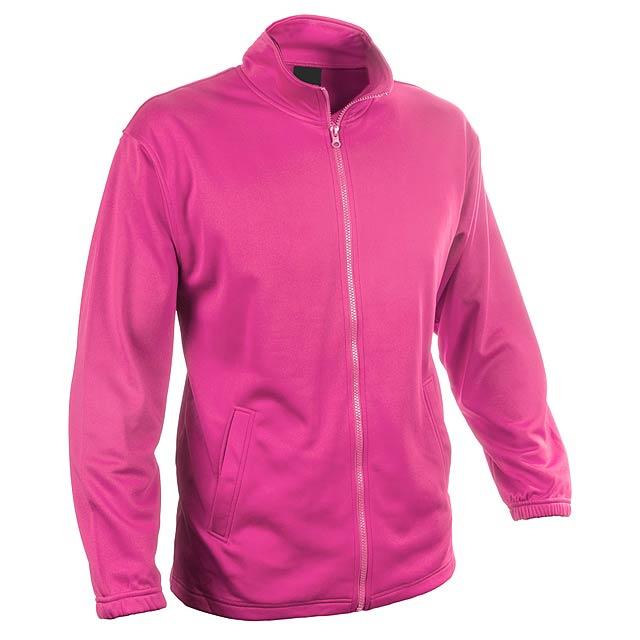 Bunda ze 100% polyesteru na zip, s 2 kapsami, 265 g/m². - růžová - foto