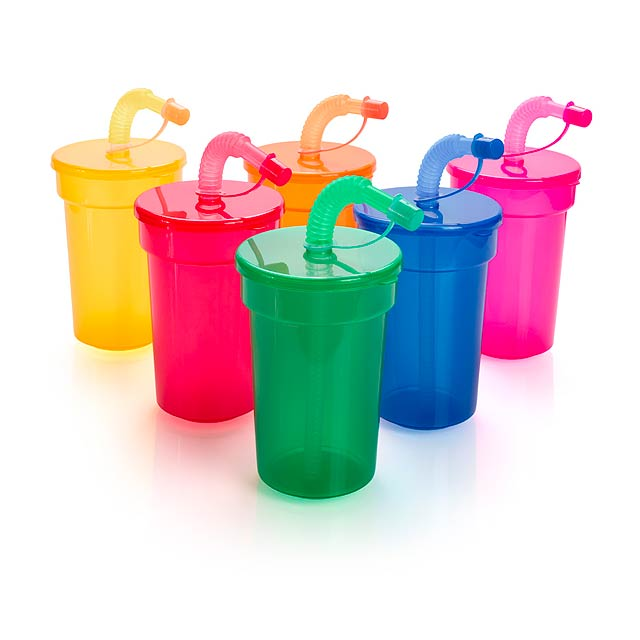 Fraguen uzavíratelný plastový pohárek - žlutá