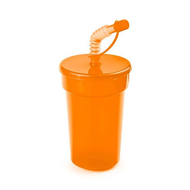 Fraguen uzavíratelný plastový pohárek - oranžová