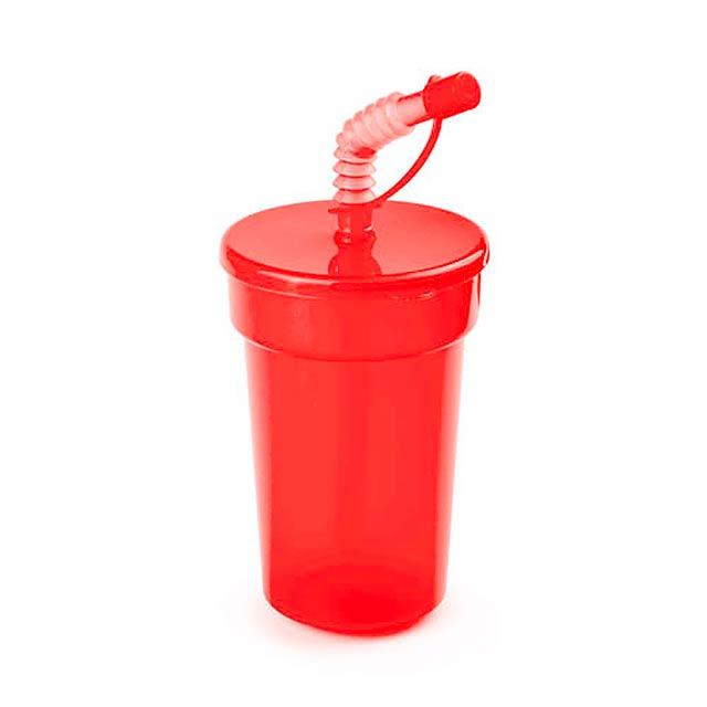 Fraguen uzavíratelný plastový pohárek - červená
