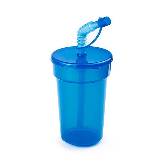 Fraguen uzavíratelný plastový pohárek - modrá