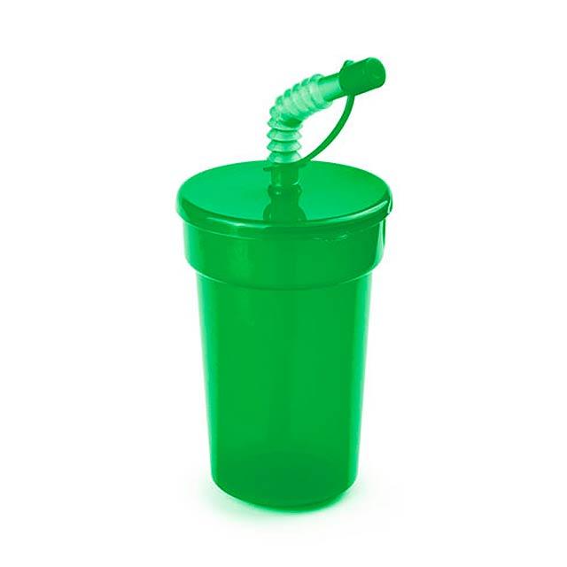 Fraguen uzavíratelný plastový pohárek - zelená