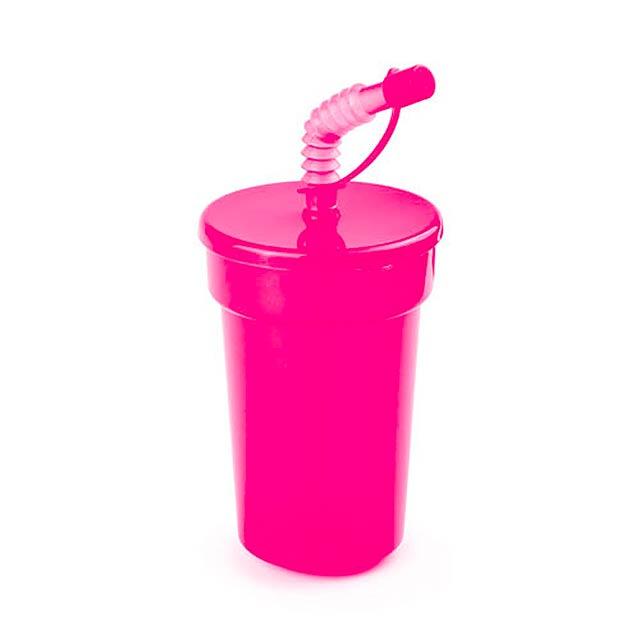 Fraguen uzavíratelný plastový pohárek - fuchsiová (tm. růžová)