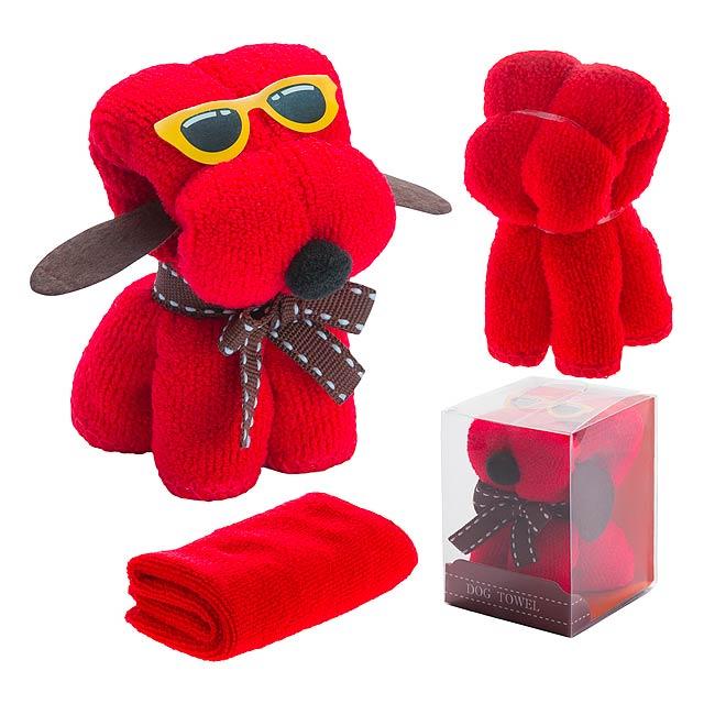 Rustuff ručník - červená