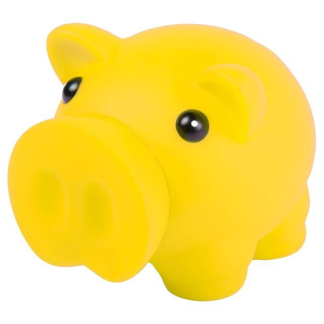 Donax pokladnička prasátko - žlutá
