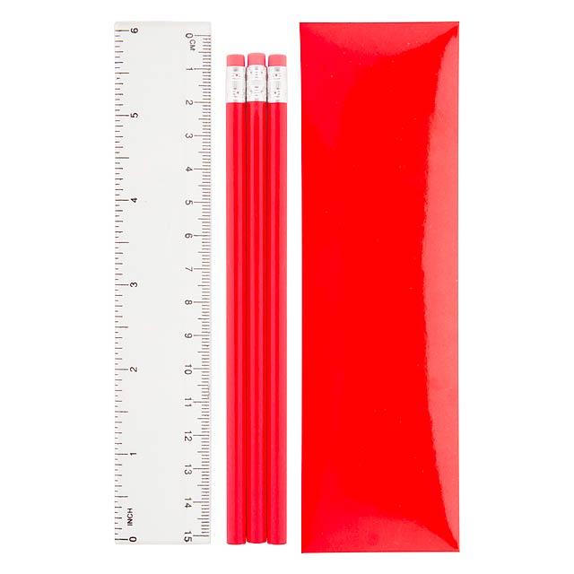 Bleistiftset - Rot