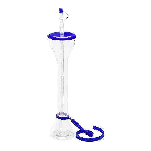 Partys uzavíratelný plastový pohárek - modrá