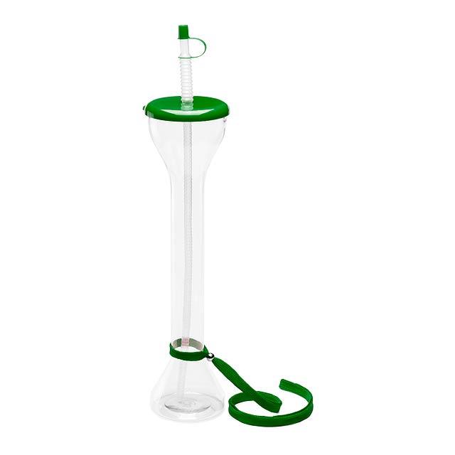 Partys uzavíratelný plastový pohárek - zelená