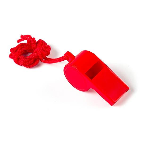 Yopet píšťalka - červená