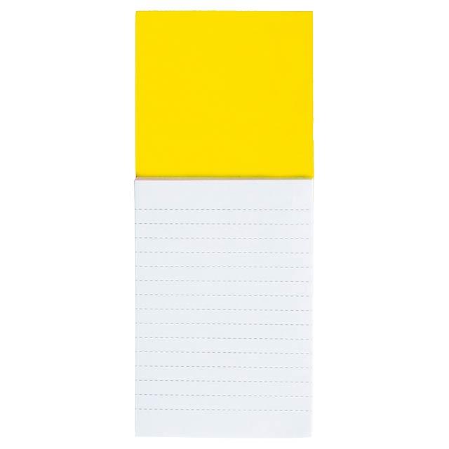 Sylox blok s magnetkou - žlutá