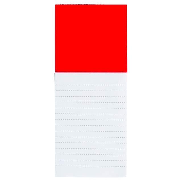 Sylox blok s magnetkou - červená