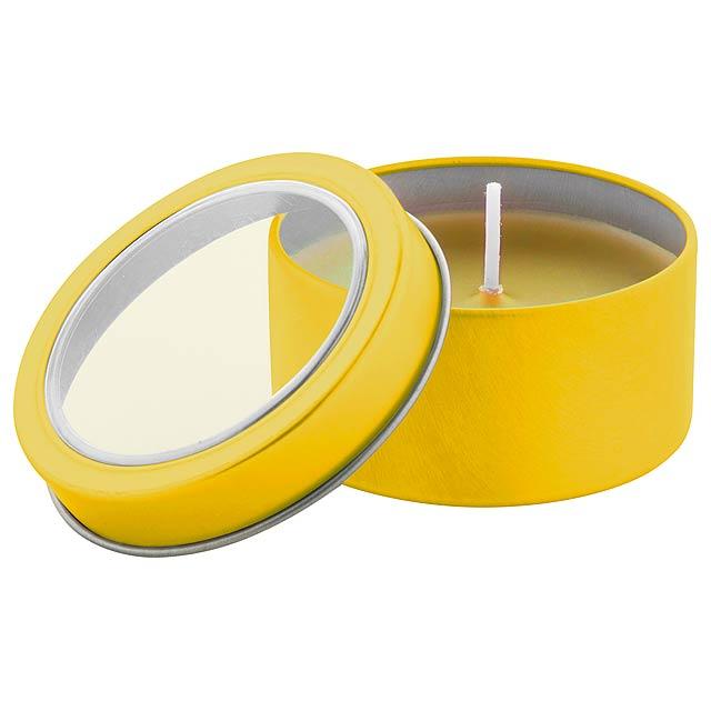 Sioko svíčka - žlutá