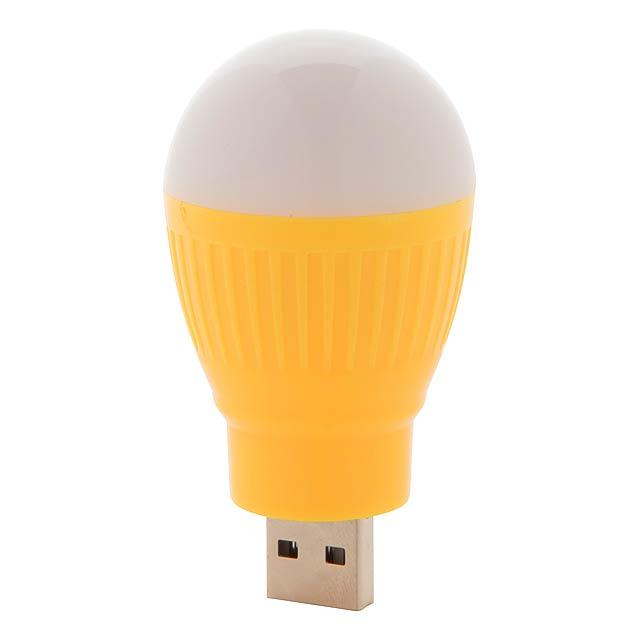 Kinser USB lampička - žlutá
