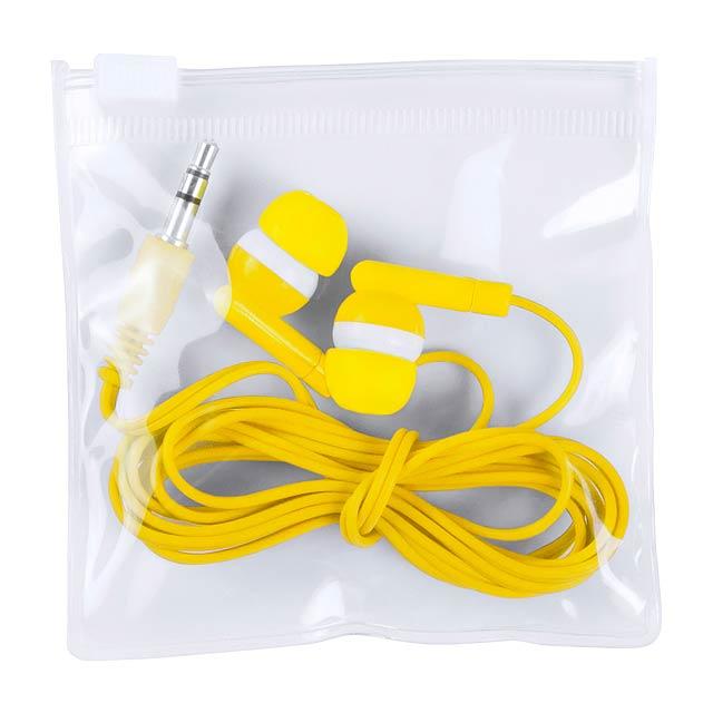 Celter sluchátka - žltá