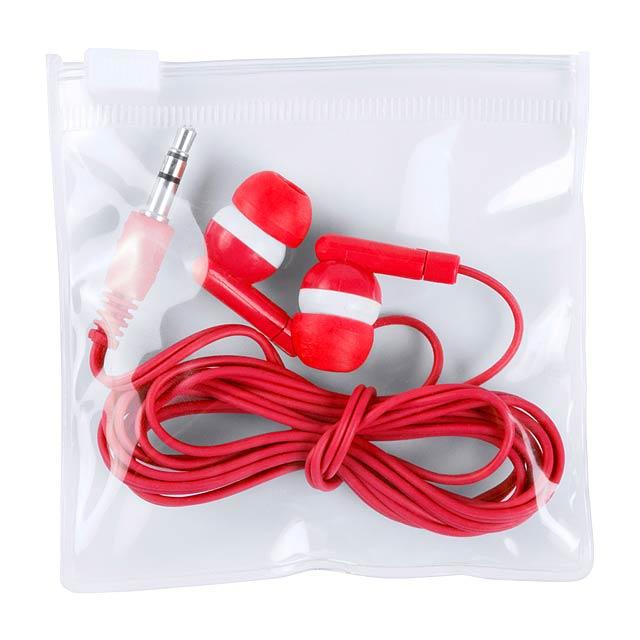 Celter sluchátka - červená