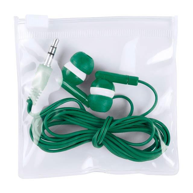 Celter sluchátka - zelená