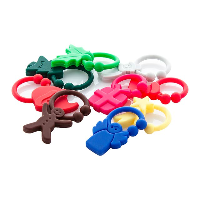 Kandax sada identifikačních figurek na skleničky - multicolor