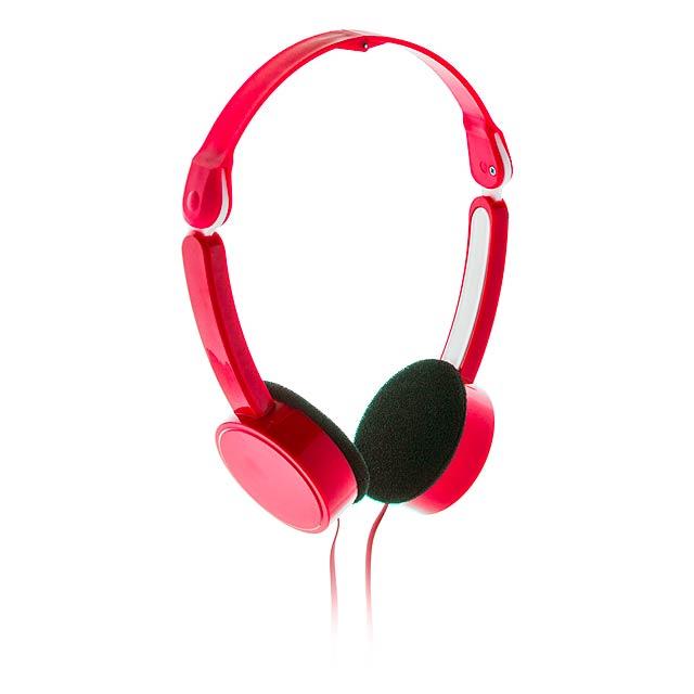 Heltox sluchátka - červená