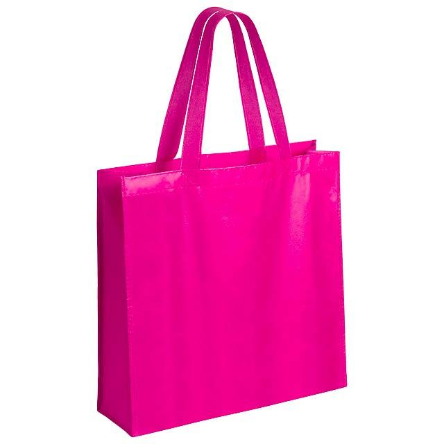 Natia nákupní taška - fuchsiová (tm. růžová)
