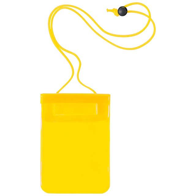 Arsax voděodolný obal na mobil - žlutá