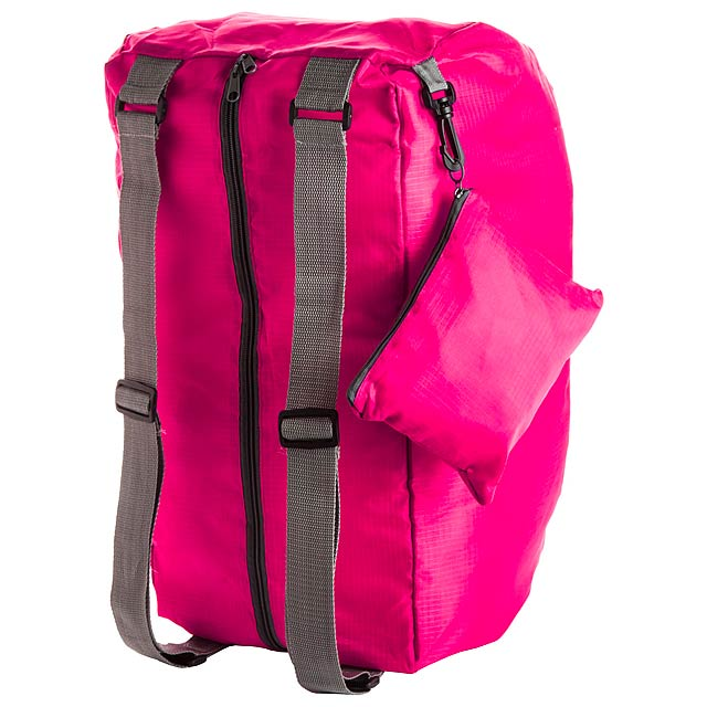 Ribuk skládací sportovní taška - fuchsiová (tm. růžová)