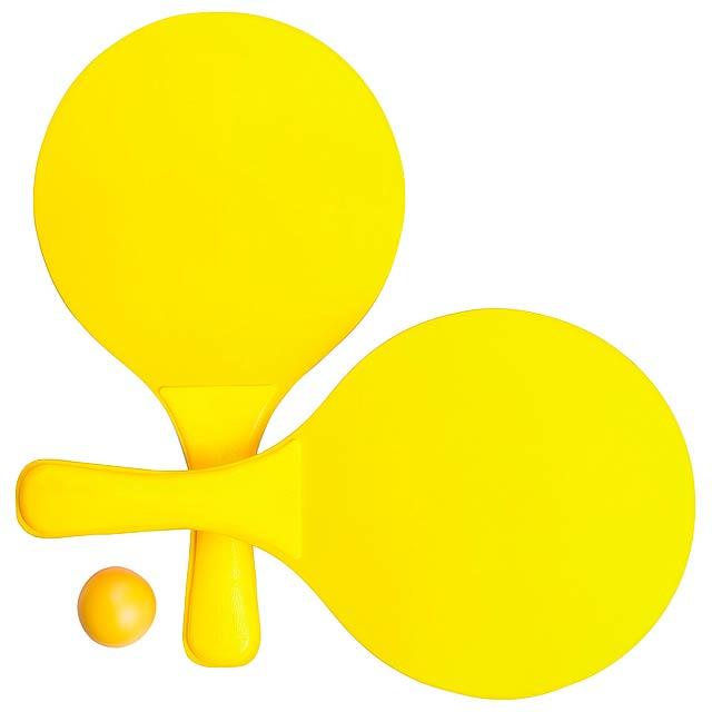 Faluk plážový tenis - žlutá