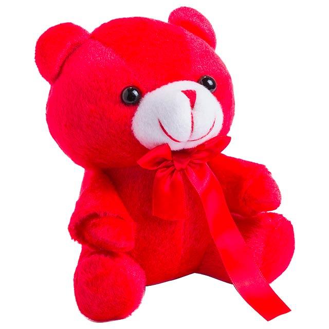 Arohax plyšový medvídek - červená