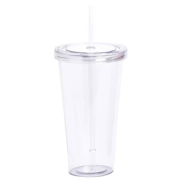 Trinox kelímek na pití - transparentní bílá