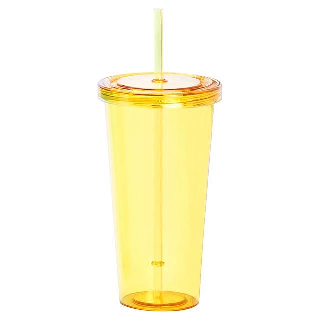 Trinox kelímek na pití - žlutá