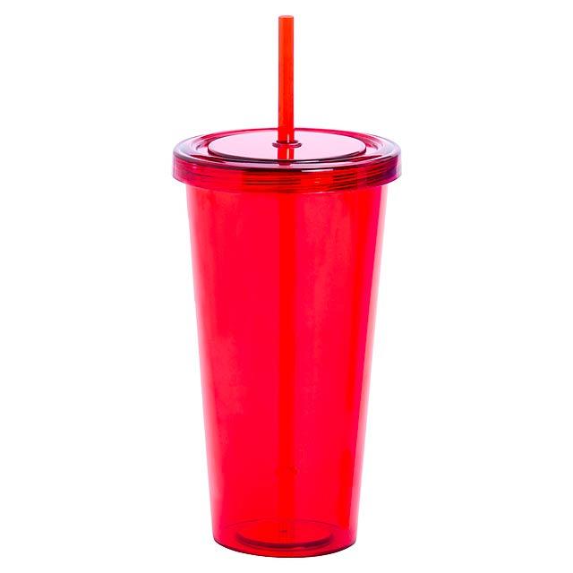 Trinox kelímek na pití - červená