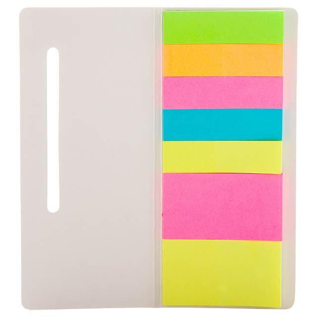 Karlen - adhesive notepad - white