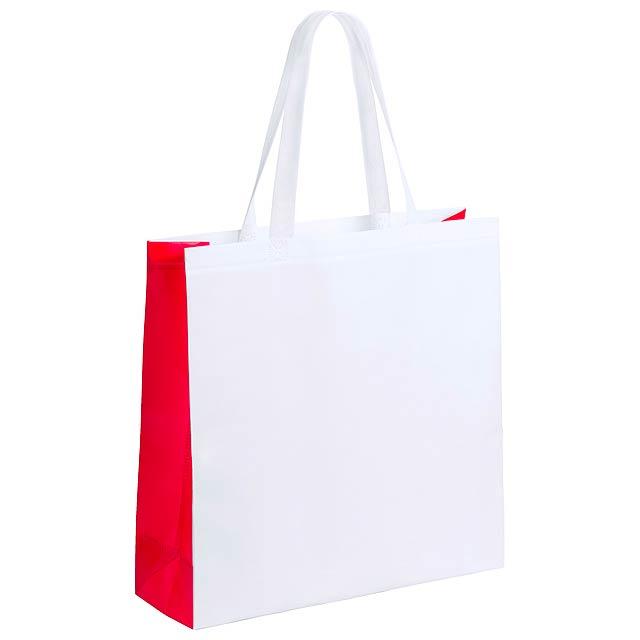 Decal nákupní taška - červená