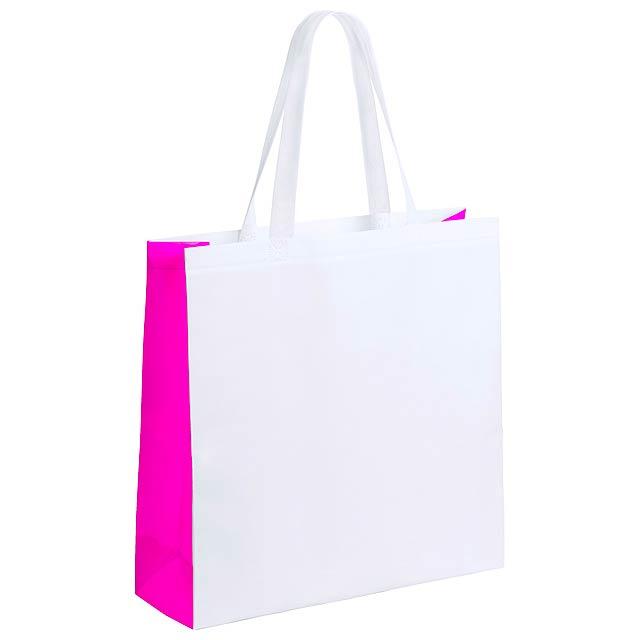 Decal nákupní taška - fuchsiová (tm. růžová)