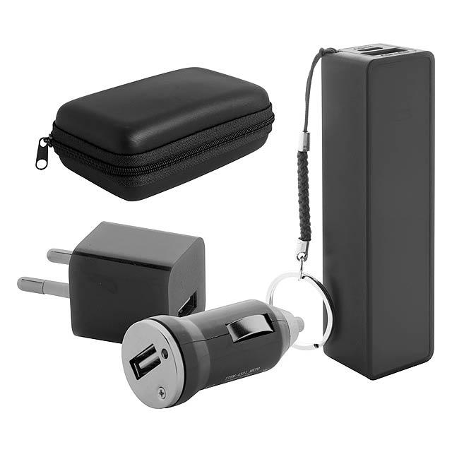Rebex sada USB nabíječky a power banky - černá
