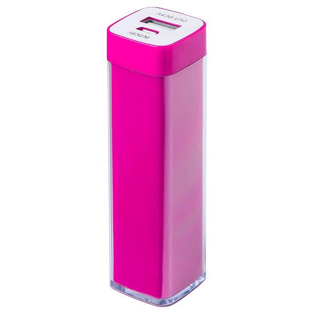 Sirouk USB power banka - fuchsiová (tm. růžová)