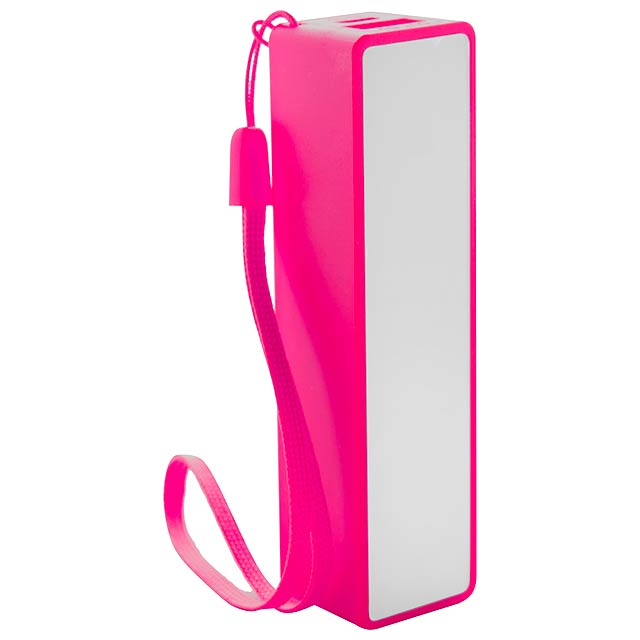 Keox USB power banka - fuchsiová (tm. růžová)