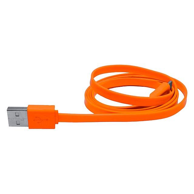 Yancop USB nabíjecí kabel - oranžová