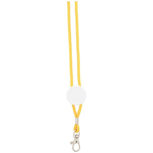 Perux lanyard - žlutá