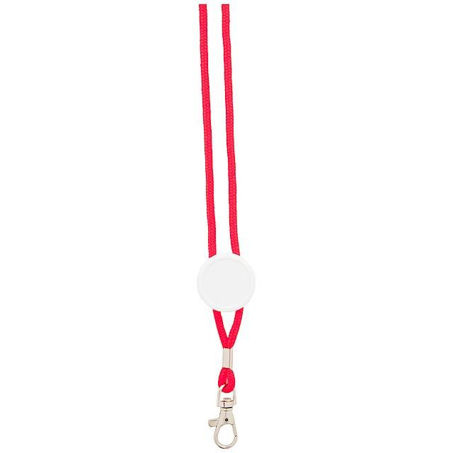 Perux lanyard - červená