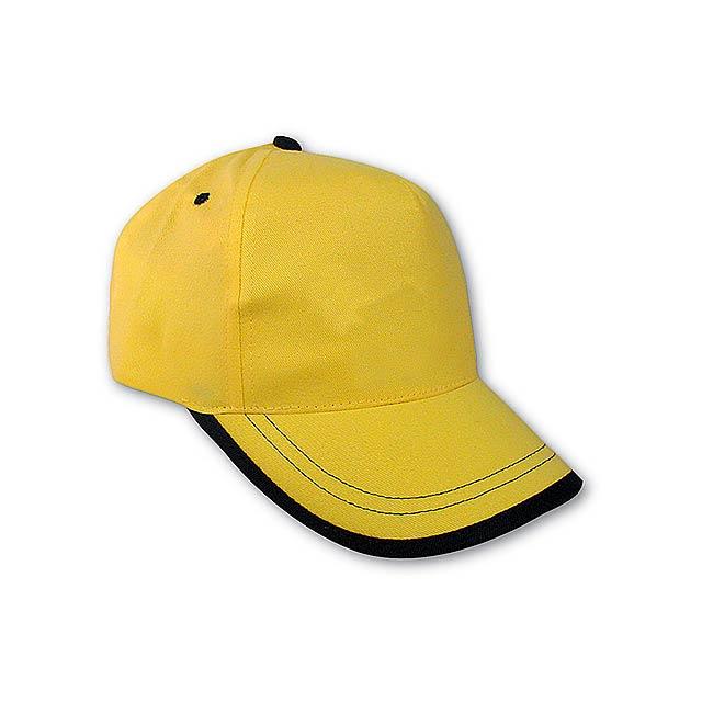 USA kšiltovka - žlutá