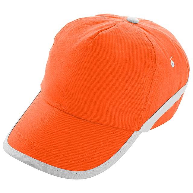Line - Baseball Kappe - Orange