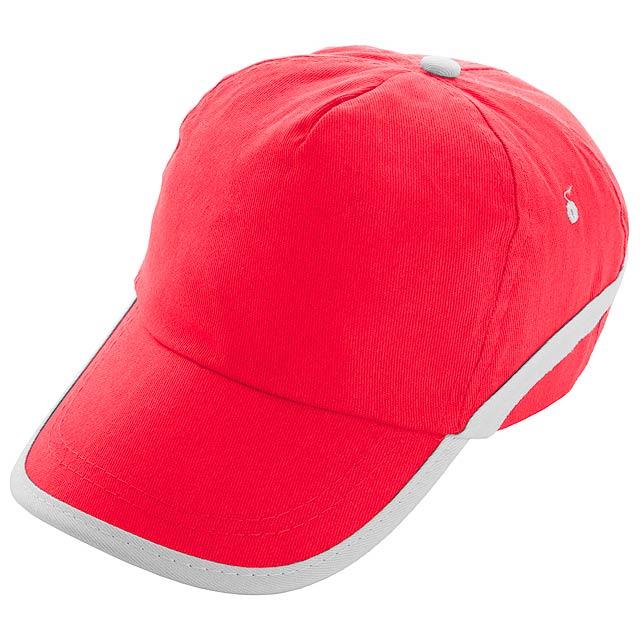 Line - Baseball Kappe - Rot