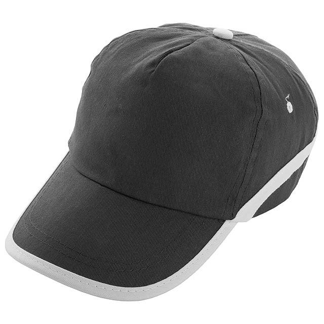 Line - Baseball Kappe - schwarz