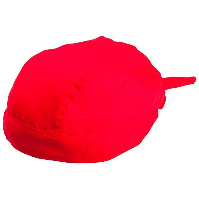 Šátek na hlavu - červená 149f4e8c14