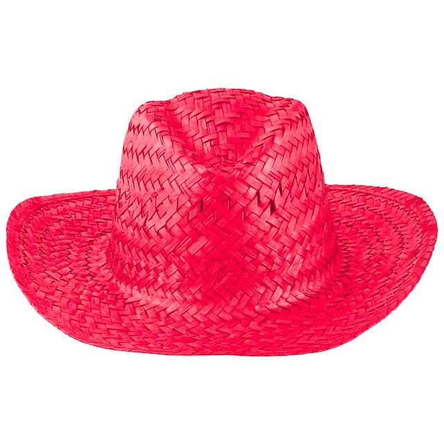 Splash slaměný klobouk - červená