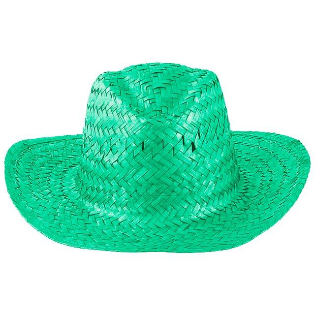 Splash slaměný klobouk - zelená